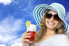 Summer woman Stock Image