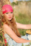Summer woman. Healthy summer woman relaxing outdoors Royalty Free Stock Photography
