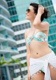 Summer woman in bikini Royalty Free Stock Images