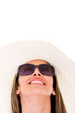 Summer woman daydreaming Royalty Free Stock Image