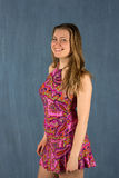 Summer woman in dress Royalty Free Stock Image