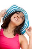 Summer woman with a hat Royalty Free Stock Photo