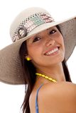Summer woman with a hat Stock Image