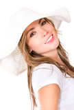 Summer woman with a hat Stock Photography