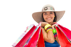 Summer woman shopping Royalty Free Stock Photo
