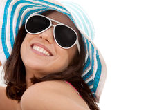 Summer woman smiling Stock Images