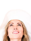 Summer woman with a sunhat Stock Image