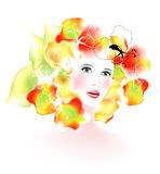 Summer woman, vector Royalty Free Stock Photo