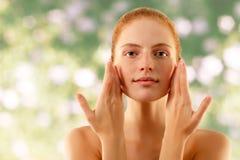 Summer woman young beautiful no make-up royalty free stock image