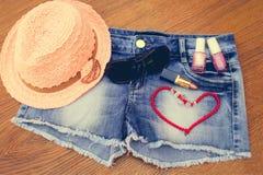 Summer women's accessories Stock Image