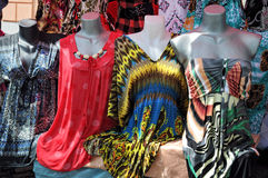 Summer women's dresses royalty free stock photos