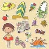 Summer women's vacation stock illustration