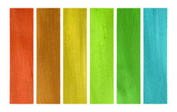 Summer and wood tones coconut paper banner set Stock Photo