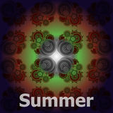 Summer word on abstract grunge background Royalty Free Stock Photography