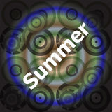Summer word on abstract grunge background Royalty Free Stock Image