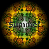 Summer word on abstract grunge background Royalty Free Stock Photo