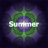Summer word on abstract grunge background Royalty Free Stock Photos