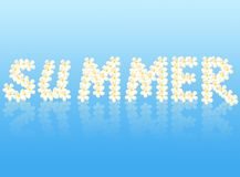 Summer word created from flower Royalty Free Stock Images