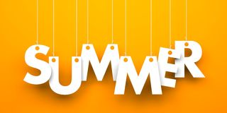 Summer word hanging on a strings Stock Photo