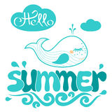 Summer word  and hello Stock Image