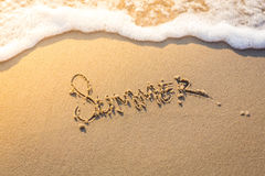 Summer word Royalty Free Stock Images