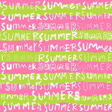 Summer word seamless pattern background Stock Image
