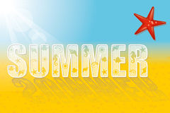 Summer word Stock Photo