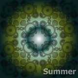 Summer Words on abstract Backgrounds Royalty Free Stock Image