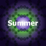 Summer Words on abstract Backgrounds Stock Photos