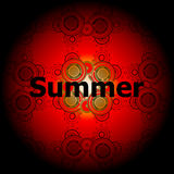 Summer Words on abstract Backgrounds Stock Photography