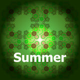 Summer Words on abstract Backgrounds Royalty Free Stock Photo