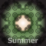 Summer Words on abstract Backgrounds Royalty Free Stock Photography