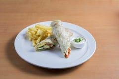 Summer Wrap Salad Stock Image