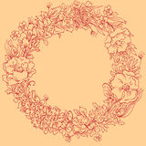 Summer wreath Stock Photos