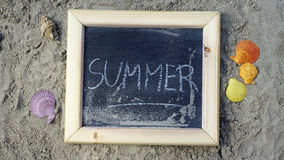 Summer written Royalty Free Stock Images