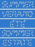 Summer written Stock Images