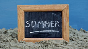 Summer written Royalty Free Stock Photo