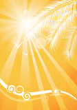 Summer yellow background Royalty Free Stock Image