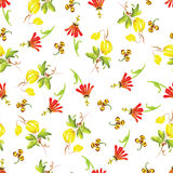 Summer yellow watercolor seamless vector pattern Royalty Free Stock Photos