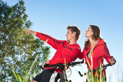 Summer - Young couple in sportive outfit Stock Photos