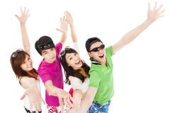 summer young people  together Royalty Free Stock Photography
