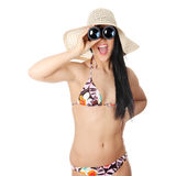 Summer young woman in bikini Royalty Free Stock Photo