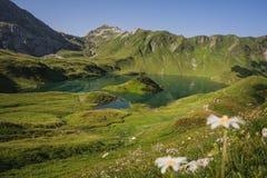 Summerday на озере горы стоковые фотографии rf