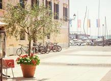 Summerday in Bardolino Stock Image