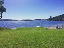 Summerday norsk strand Royaltyfri Bild