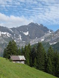 Summerday in the Swiss Alps Stock Photos