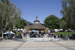 Summerfair tedesco del centro città di Leavenworth Immagini Stock