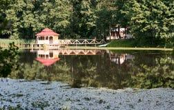summerhouse ύδωρ Στοκ Φωτογραφίες
