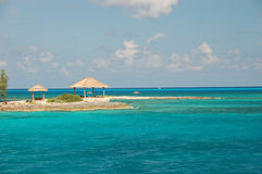 Summerhouse. On the beach of Bahamas Royalty Free Stock Photography