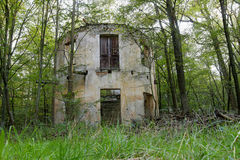 Summerhouse - abandoned old ruin in the forest Royalty Free Stock Images